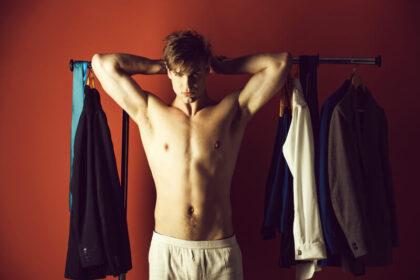 man in boxershorts
